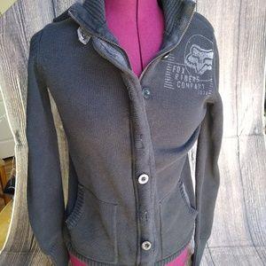 Fox Riders Co Sweater. Charcol Gray size L